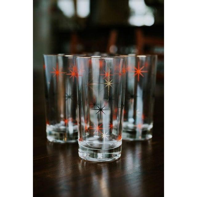 Mid-Century Modern Starburst Drinking Glasses-Set of 4 For Sale - Image 6 of 7