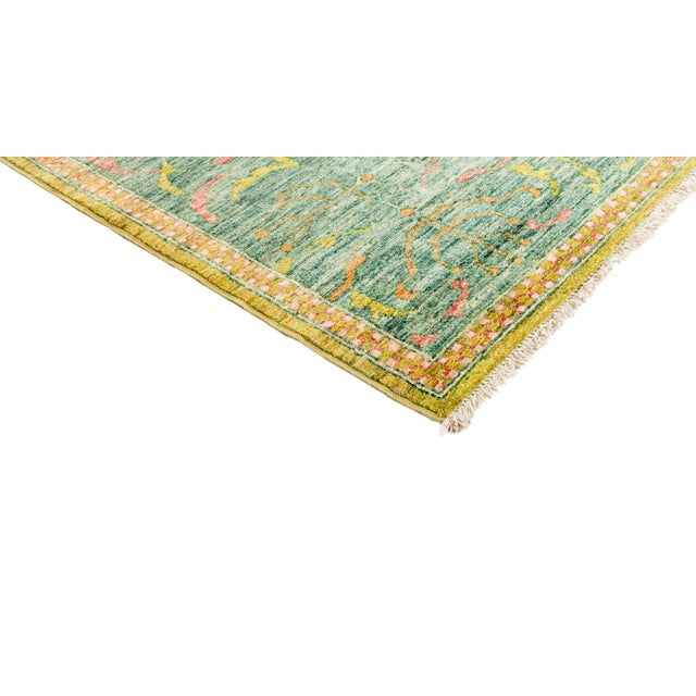 """New Yellow Hand-Knotted Rug 10' 2"""" X 13' 9"""" - Image 2 of 3"""