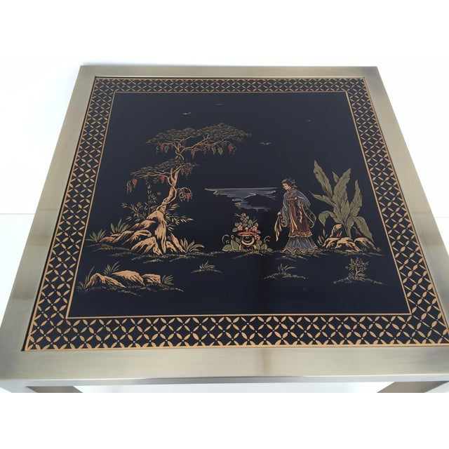 DIA Brass Chinoiserie Design Side Tables - Pair - Image 7 of 9
