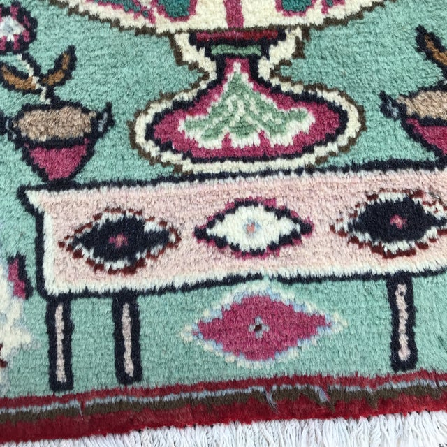 """1980s Persian Pictorial Yalameh Rug - 1'6"""" X 2'7"""" For Sale - Image 11 of 13"""