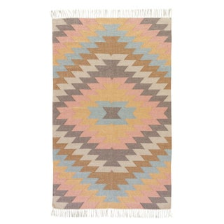 Jaipur Living Mojave Indoor/ Outdoor Geometric Multicolor Area Rug - 8′ × 10′ For Sale