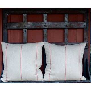 FirmaMenta Italian Red Striped Sustainable Wool Pillow Preview