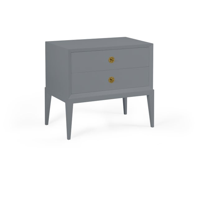 Transitional Casa Cosima Hayes 2-Drawer Side Chest, Dior Gray For Sale - Image 3 of 5