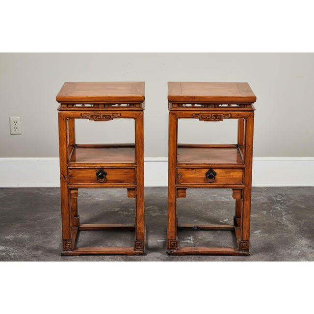 Asian 18th Century Chinese Cedar Tea Tables - a Pair For Sale - Image 3 of 10