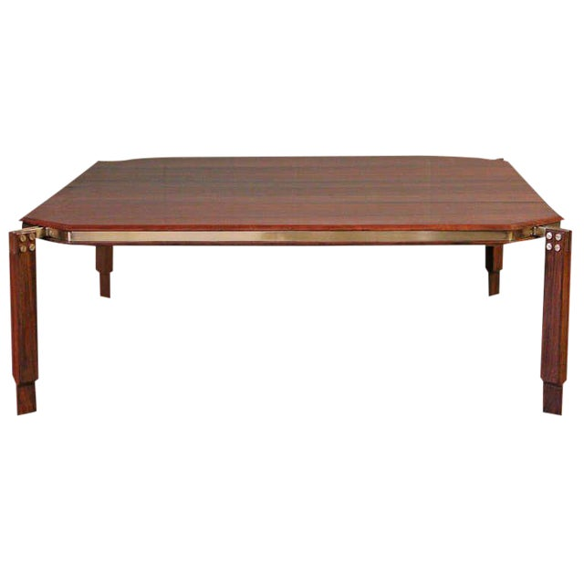 Rosewood and Brass Coffee Table - Image 1 of 10