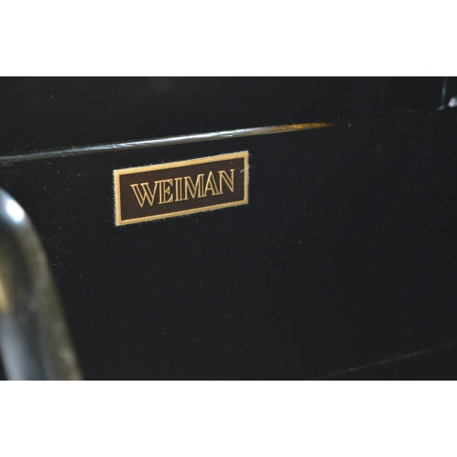 Black Lacquer Hollywood Regency Cabinet by Weiman - Image 6 of 6