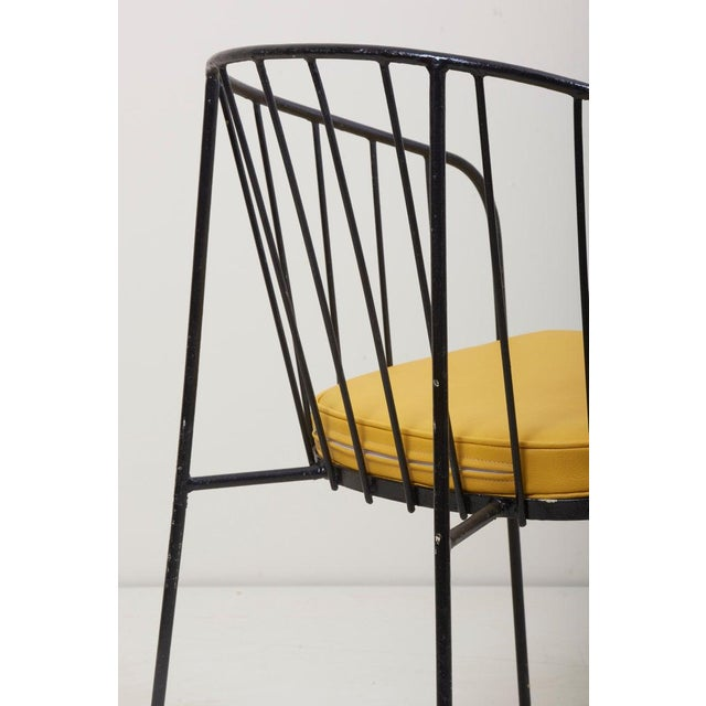 Set of Four Iron Rod Outdoor Chairs by George Nelson for Arbuck, 1950s For Sale - Image 11 of 13
