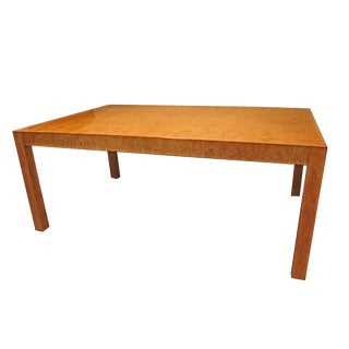 1970s Mid-Century Modern John Widdicomb Burlwood Parsons Dining Table For Sale