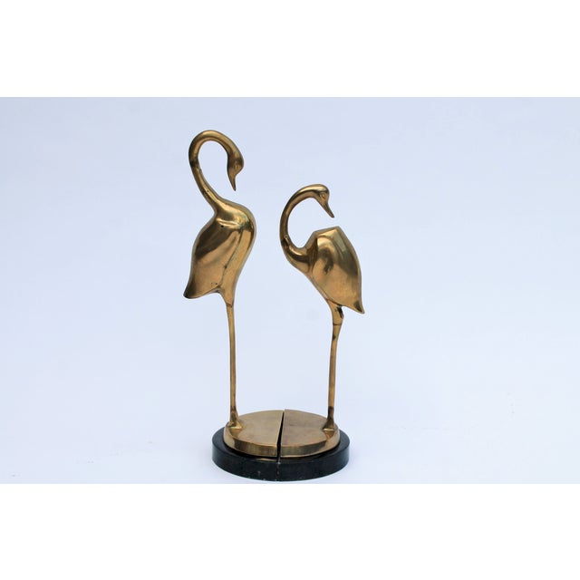 Brass Flamingo Bookends- A Pair - Image 2 of 6