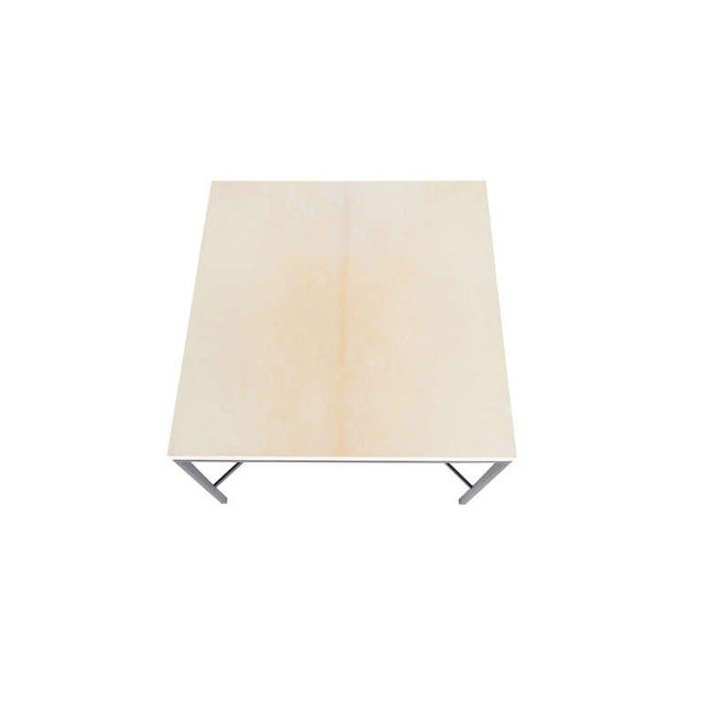 Modern Customizable Trapp Parchment Top Side Table For Sale - Image 3 of 5