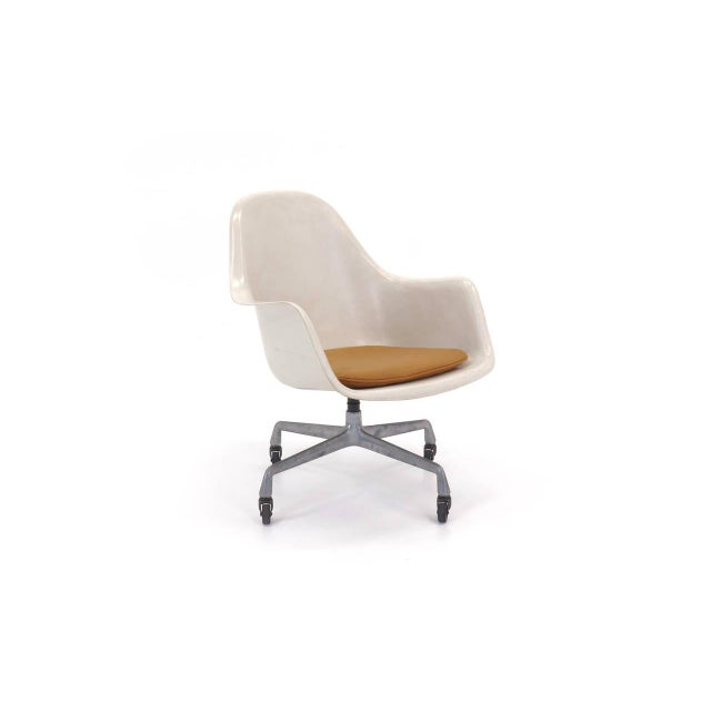 Eames EC175-8. Very rare example of the loose cushion armchair without upholstery. Dated Oct. 1, 1978. This is an...