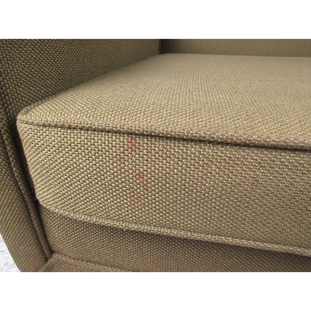 Mid-Century Modern Upholstery and Cane Armchair For Sale - Image 9 of 10