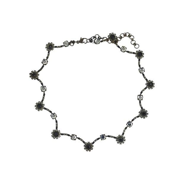 Sorrelli Black & White Floral Necklace For Sale