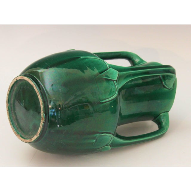 Awaji Pottery Art Nouveau Four Handle Buttress Vase For Sale In New York - Image 6 of 9