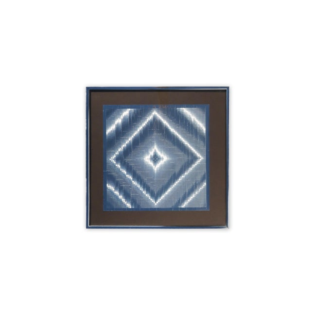 1970s Op Art Foil Painting For Sale In Palm Springs - Image 6 of 7