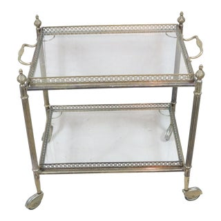 Mid 20th Century Petite French Bar Cart For Sale