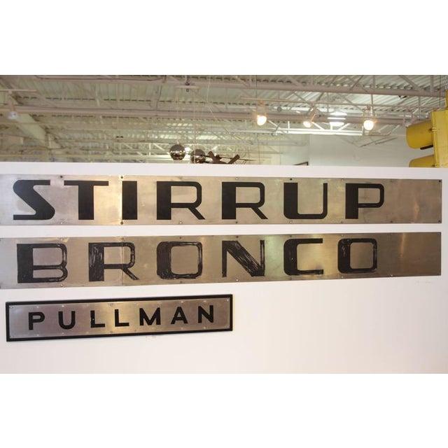 Machine Age Art Deco California Zephyr Pullman Train Car Nameplates Vista Dome For Sale In Dallas - Image 6 of 10
