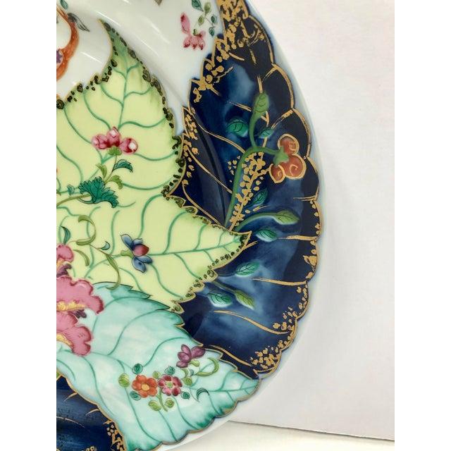 Mottahedeh 1980s Mottahedeh Tobacco Leaf Porcelain Plate For Sale - Image 4 of 11