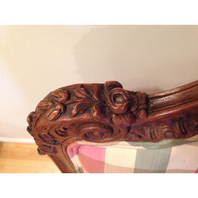 Walnut 18th CenturyAntique French Louis XV Fauteuil Arm Chair For Sale - Image 7 of 13
