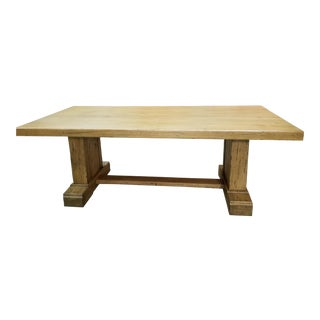 Farmhouse Solid Oak Table For Sale