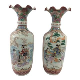 19th Century Imari Vases - A Pair For Sale