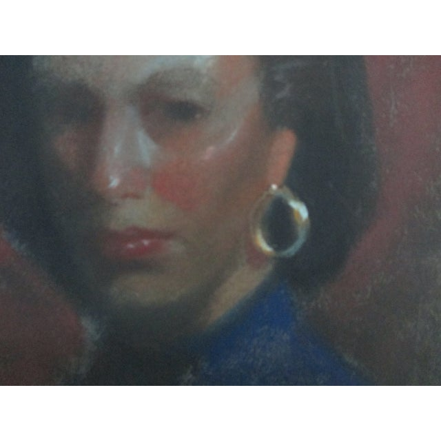 Lady With Gold Earring Pastel Portrait - Image 4 of 4