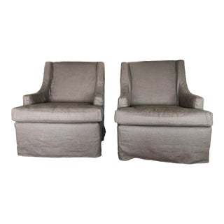 Cisco Brothers Club Chairs- a Pair For Sale