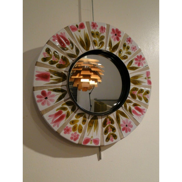 Roger Capron 1960s Roger Capron Round Mirror For Sale - Image 4 of 7