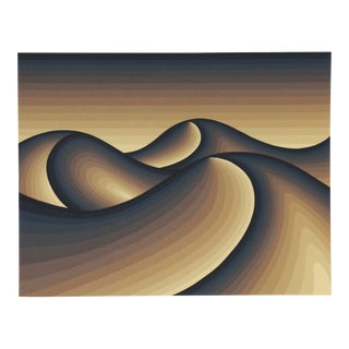"1980s Roy Ahlgren, ""Namibia"", Op Art Screenprint For Sale"