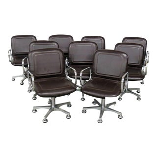 Set of Nine Mid Century Modern Office Chairs For Sale