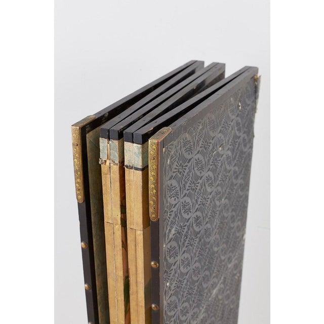 Pair of Japanese Six Panel Meiji Crane Landscape Screens For Sale - Image 11 of 13