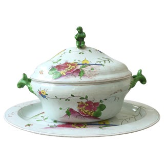 18th C. Continental Tureen & Underplate For Sale