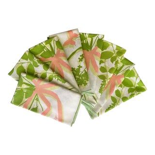Vintage Vera Butterflies and Bows Napkins- Set of 8 For Sale
