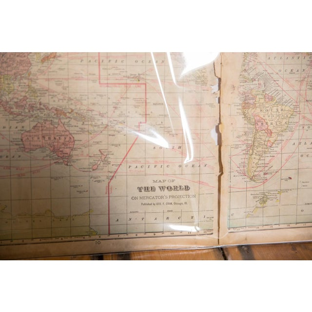American Cram's 1907 Map of World For Sale - Image 3 of 7