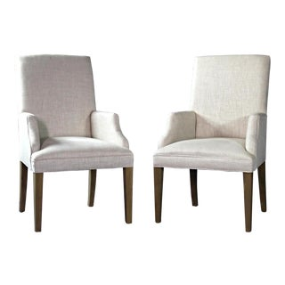 Modern Upholstered Armchairs - A Pair For Sale