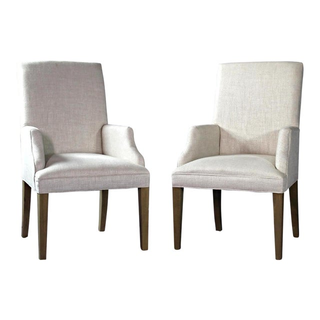 Modern Upholstered Armchairs - A Pair - Image 1 of 11