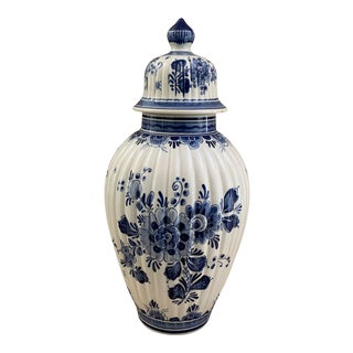 Holland Delft Blue and White Ginger Jar For Sale
