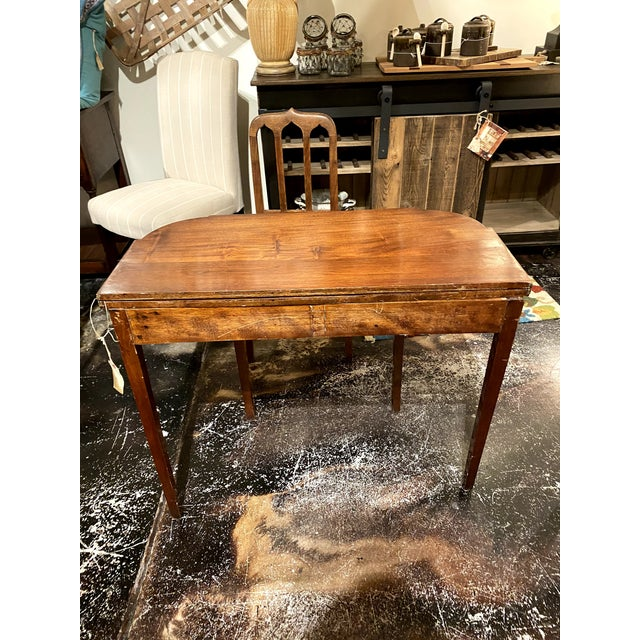 George III Mahogany and Inlaid Fold-Top Console Table For Sale - Image 11 of 12