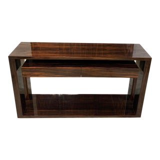 1940s French Art Deco Macassar Ebony Console Table or Writing Desks For Sale