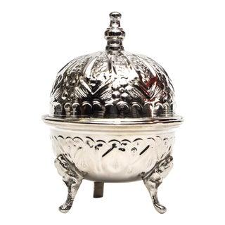 Moroccan Handmade Silver Sugar Bowl