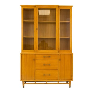 Vintage Mid Century Milo Baughman for Drexel China Cabinet For Sale
