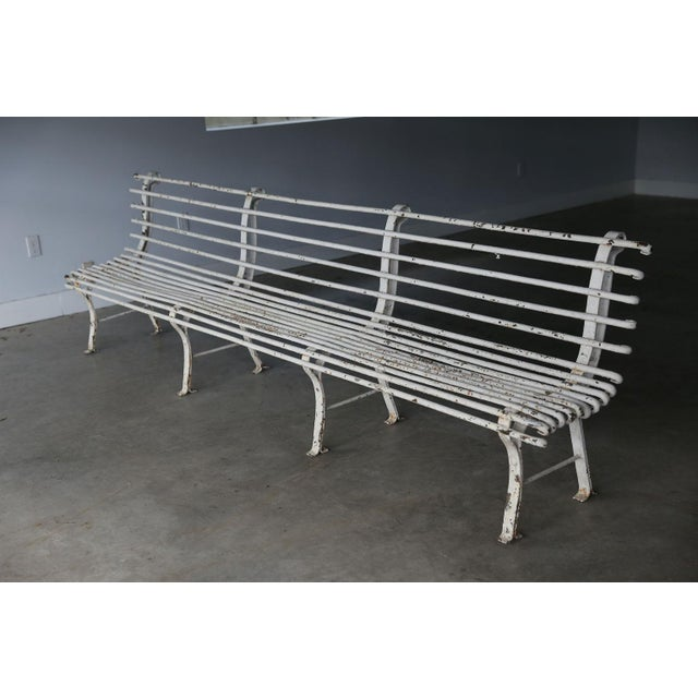 Early 20th Century French Iron Bench For Sale - Image 5 of 10