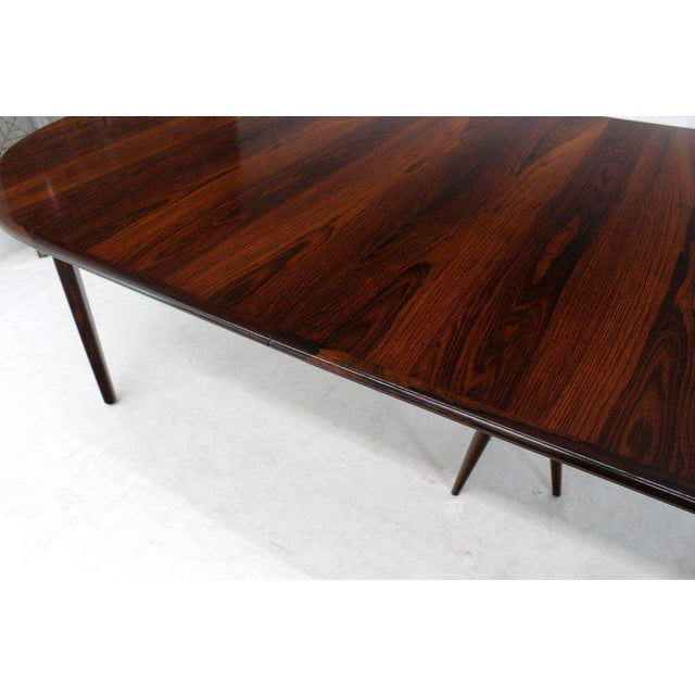 Luxury MidCentury Modern Banquet Large Dining Conference Table - Conference table with leaves
