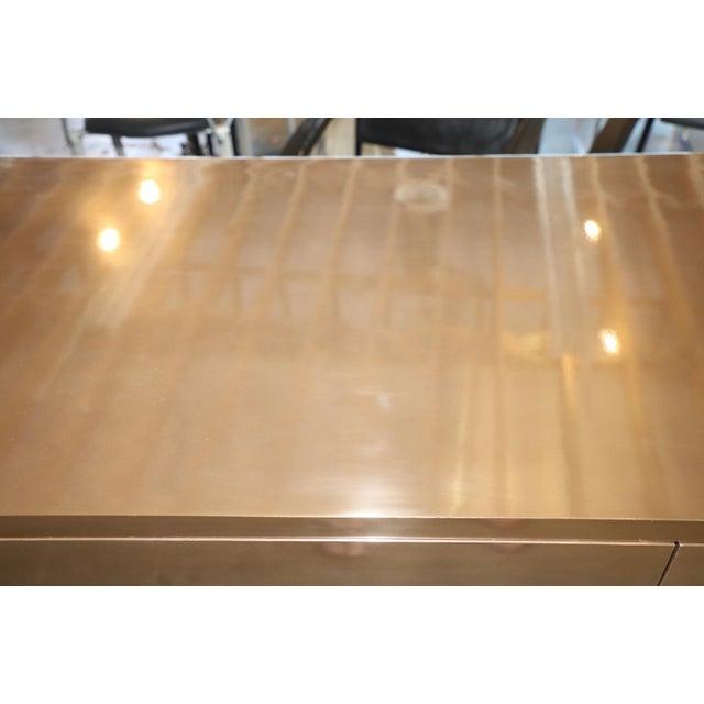 Gold Zee Desk in Bronze by Bridges Over Time Originals For Sale - Image 8 of 13