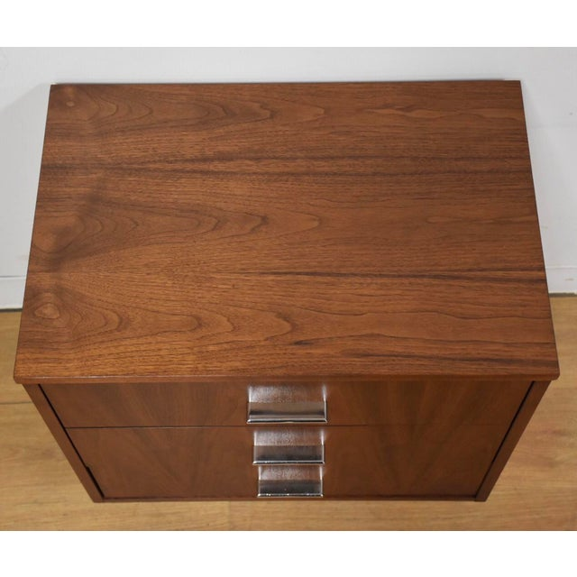 Dixie Dixie Walnut Modern Nightstand For Sale - Image 4 of 6