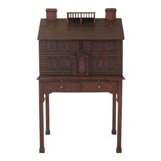 Lineage by Maitland Smith Mahogany House Liquor Cabinet For Sale