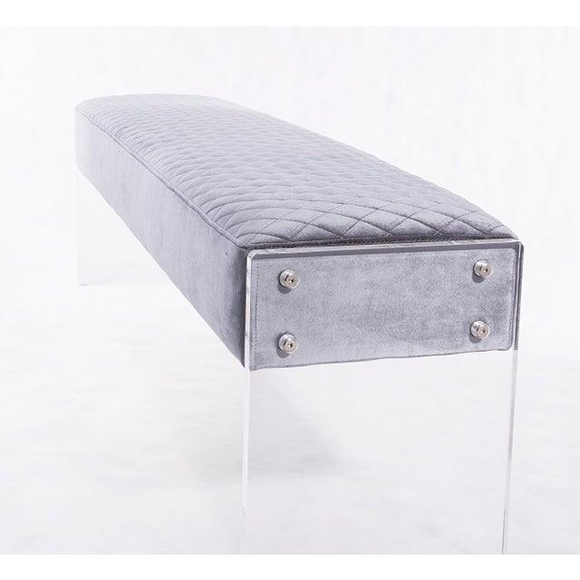 Blink Home Blink Home Velvet Bench For Sale - Image 4 of 5