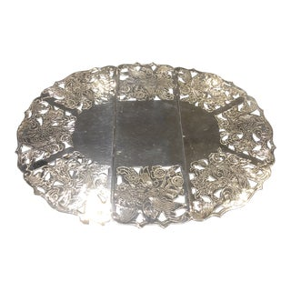 Silver-Plated English Style Trivet For Sale
