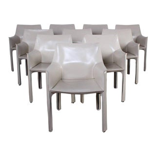 Set of Ten Cab Chairs by Mario Bellini