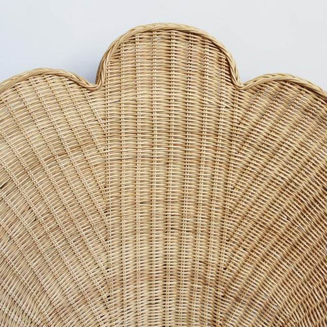 2010s Rattan Natural Shell Chair For Sale - Image 5 of 6